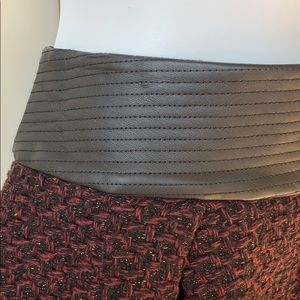 BCBGeneration Skirts - BCBG leather and tweed skirt